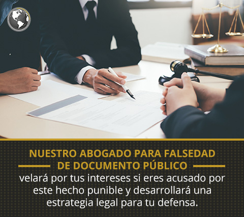 Abogado para Falsedad de Documento Público en una Asesoría Legal.